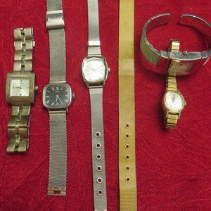 Silver and Gold - Lot of 5 Watches
